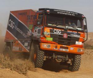 Tomáš Tomeček dorazil s Tatrou do cíle Africa Eco Race