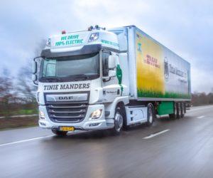 DAF dodal plně elektrické vozidlo společnosti Tinie Manders Transport z Geldropu