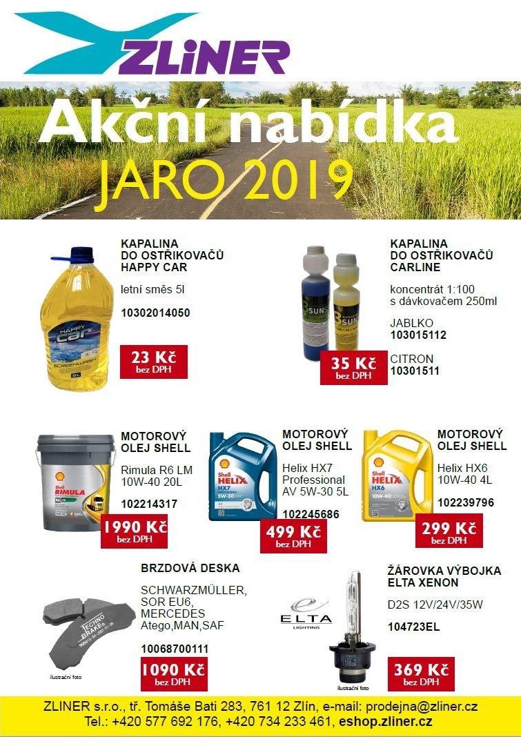 Akční nabídka na jaro 2019 od firmy Zliner