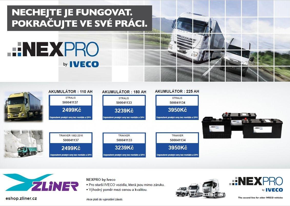 Akce na akumulátory NEXPRO u společnosti Zliner