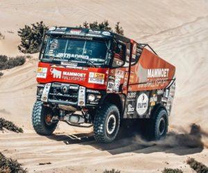 Rallye Maroko – 2. etapa; Proražené pneumatiky zpomalily vedoucí kamion