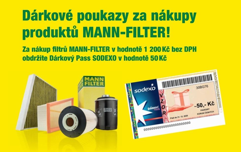 Dárkové poukazy za nákupy produktů MANN-FILTER u ADIPu
