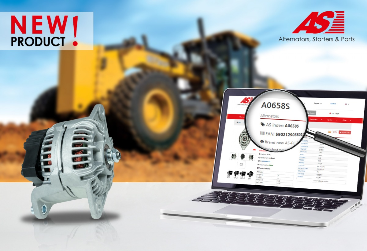 Nový alternátor AS-PL A0658S určený pro John Deere a Volvo