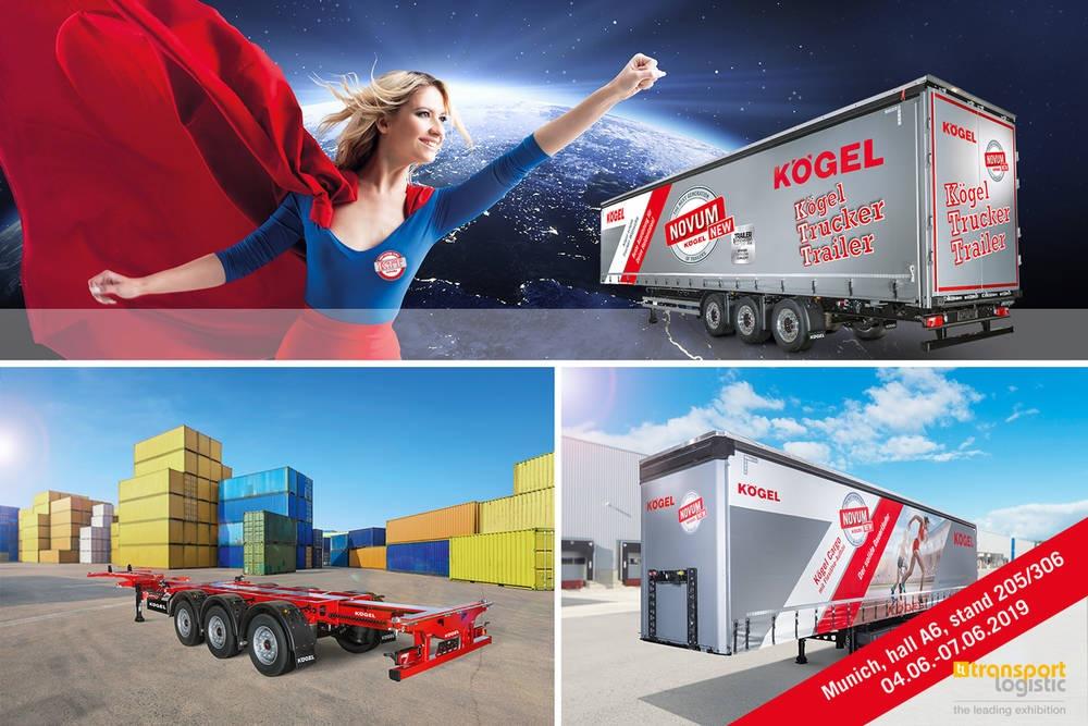 Kögel bude na veletrhu transport logistic 2019