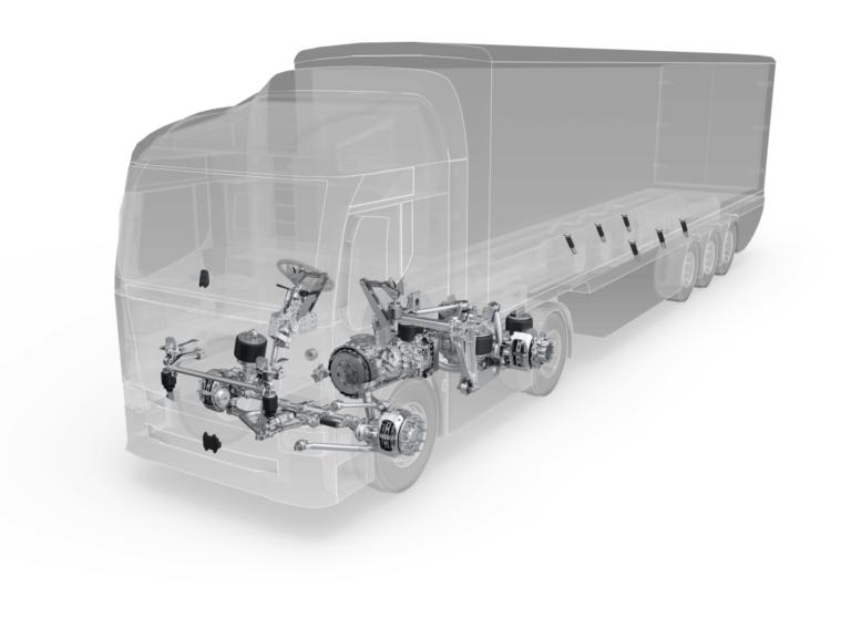 ZF systémy brzdění, tlumení a řízení kamionu