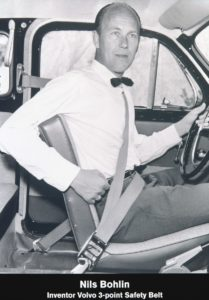 Nils Bohlin a tříbodový pás