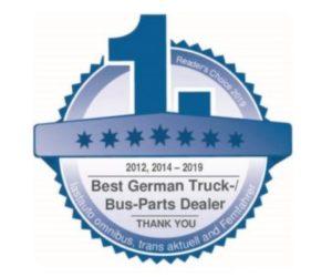 Společnost Europart je opět vyznamenána jako nejlepší prodejce dílů pro nákladní vozidla a autobusy