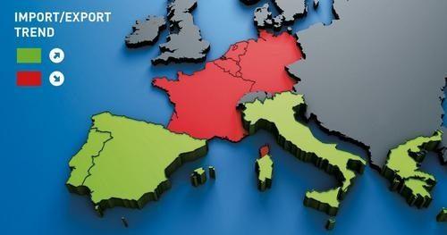 Import a export v Evropě dle Timocom
