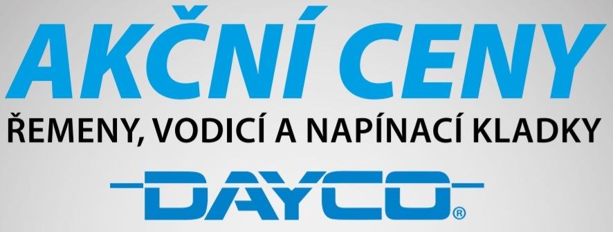 Akční nabídka řemenů, vodicích a napínacích kladek Dayco u Elitu