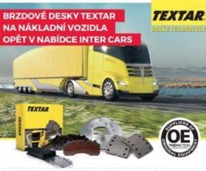 Brzdové desky Textar pro nákladní vozy opět v nabídce Inter Cars