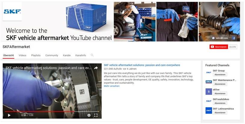 Youtube kanál SKF