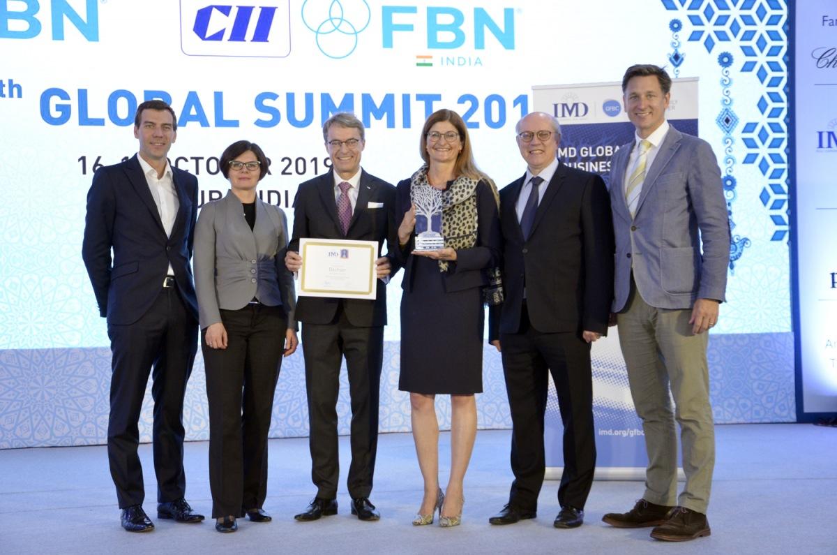 DACHSER získal cenu IMD Global Family Business Award 2019
