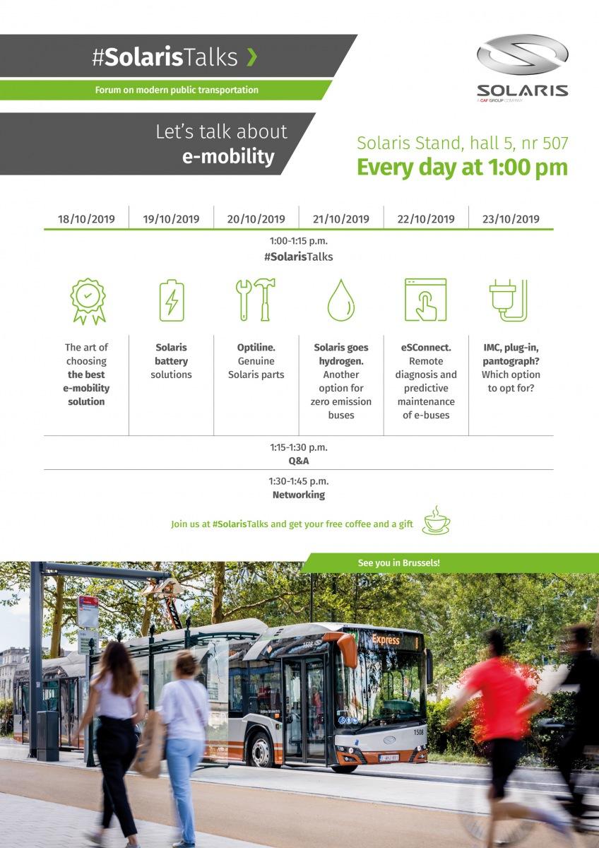 Solaris Talks na Busworld 2019