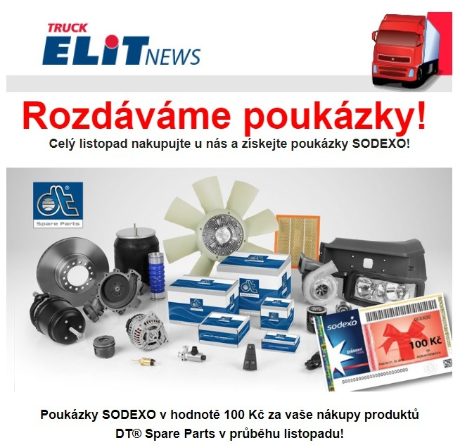 Poukázky SODEXO za DT Spare Parts u Elitu