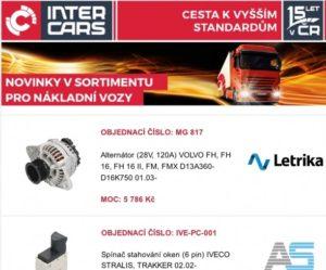 Inter Cars: Novinky v sortimentu pro truck, bus, agro