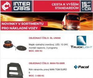 Novinky v sortimentu pro truck, bus, agro u Inter Cars