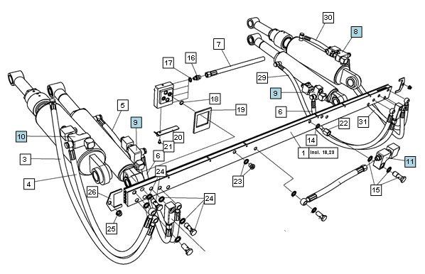 Záruční servis hydraulických čel ZEPRO
