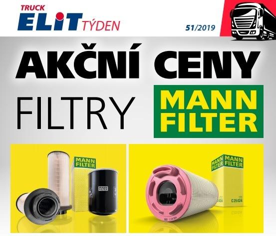 Akční ceny na filtry Mann Filter u Elitu