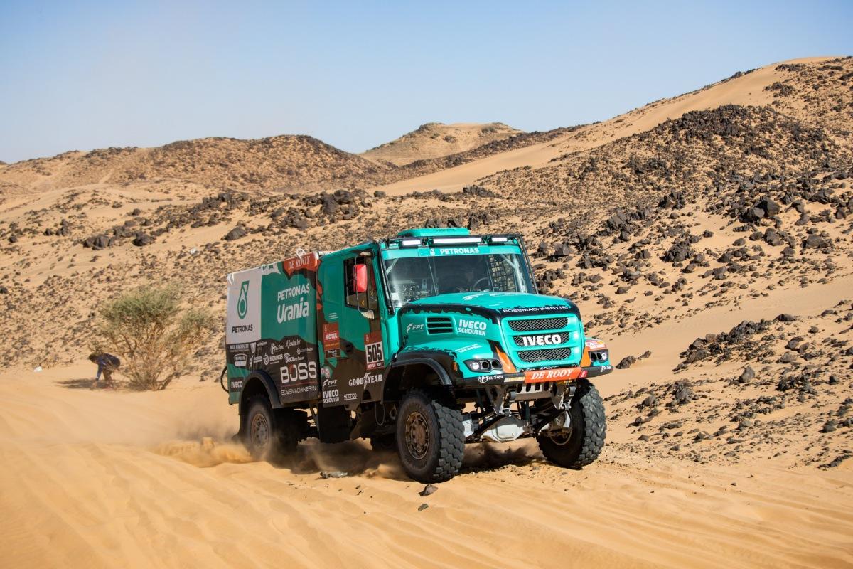 Tým Petronas De Rooy Iveco na Dakaru 2020