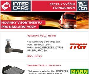 Přehled novinek u Inter Cars