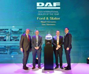 """Společnost DAF uděluje ocenění """"International Dealers of the Year 2020"""""""