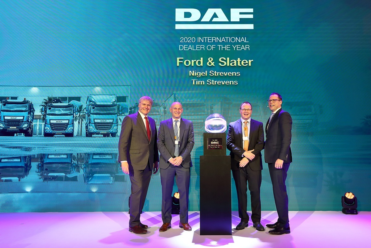 "DAF uděluje ocenění ""International Dealers of the Year 2020"""