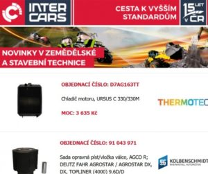 Novinky pro zemědělskou a stavební techniku a autobusy u Inter Cars