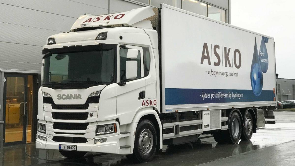 Nákladní vozidlo Scania s elektrickým pohonem
