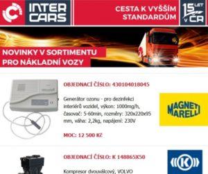 Novinky v sortimentu Inter Cars: rozšířená nabídka pro nákladní vozy, autobusy a zemědělskou a stavební techniku