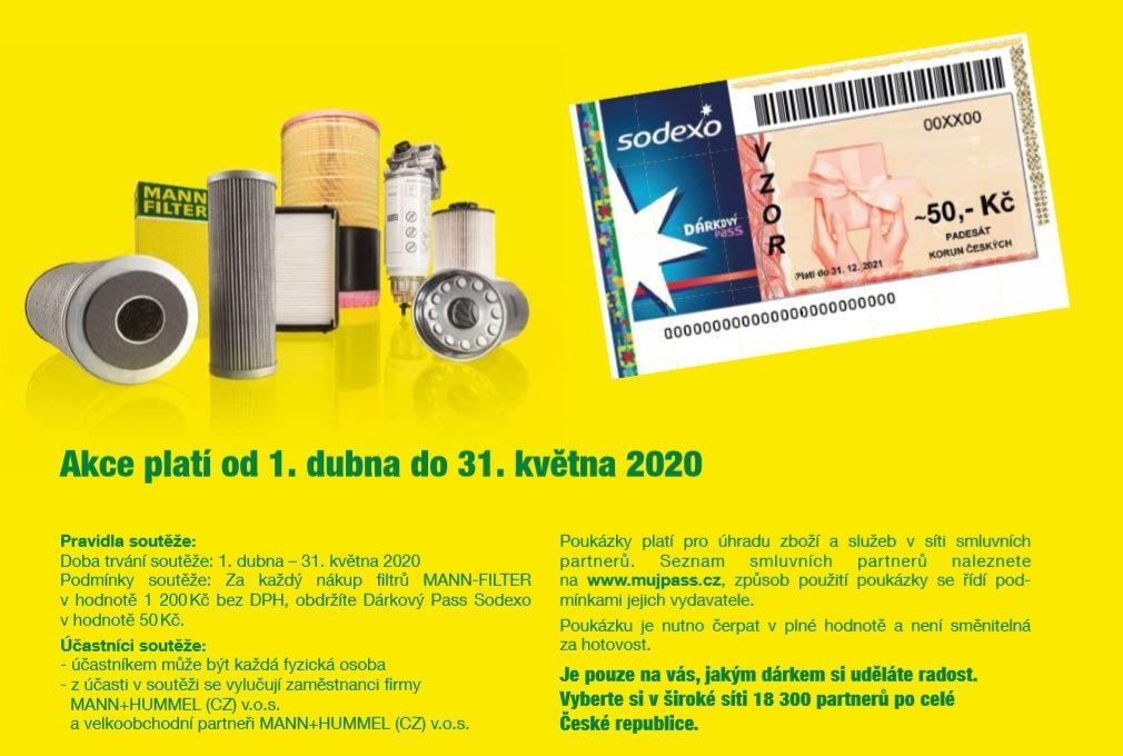 ADIP: Dárkové poukazy za nákupy produktů MANN-FILTER