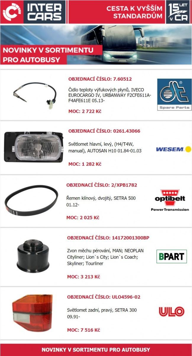 Nové produkty pro autobusy u Inter Cars