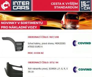Nové produkty pro nákladní vozy a autobusy u Inter Cars