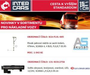 Rozšíření sortimentu Inter Cars v oblasti nákladních vozů, autobusů, stavební a zemědělské techniky