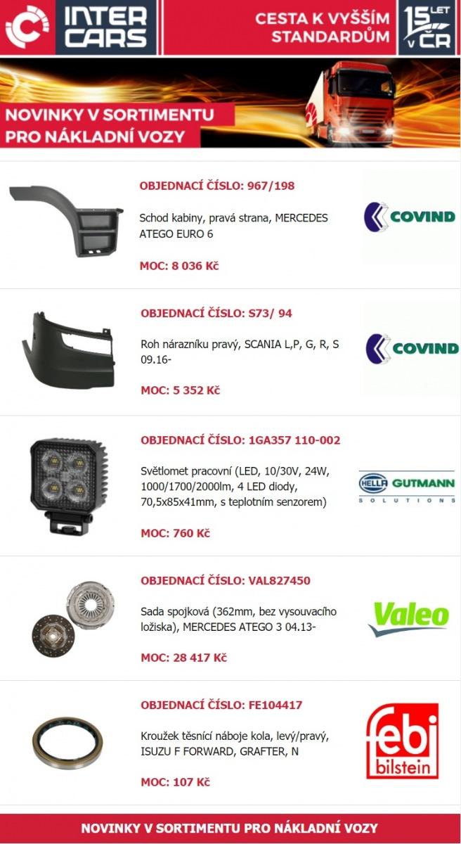 Nové produkty pro nákladní vozy u Inter Cars