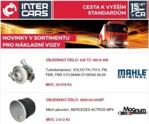 Inter Cars rozšířil sortiment pro nákladní vozy, autobusy a stavební a zemědělskou techniku