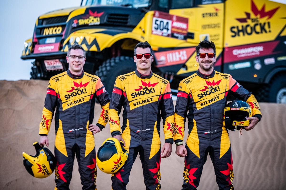 Členové týmu Big Shock Racing,