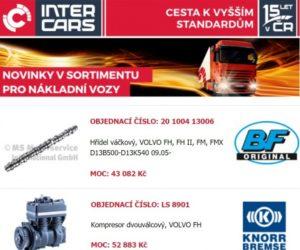 Novinky v sortimentu Inter Cars pro nákladní vozy, autobusy a stavební a zemědělskou techniku