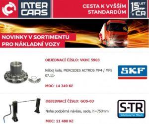 Inter Cars rozšíření sortimentu