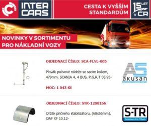 Novinky v nabídce firmy Inter Cars pro nákladní a užitková vozidla