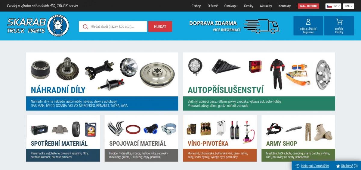 Internetové stránky Skarab