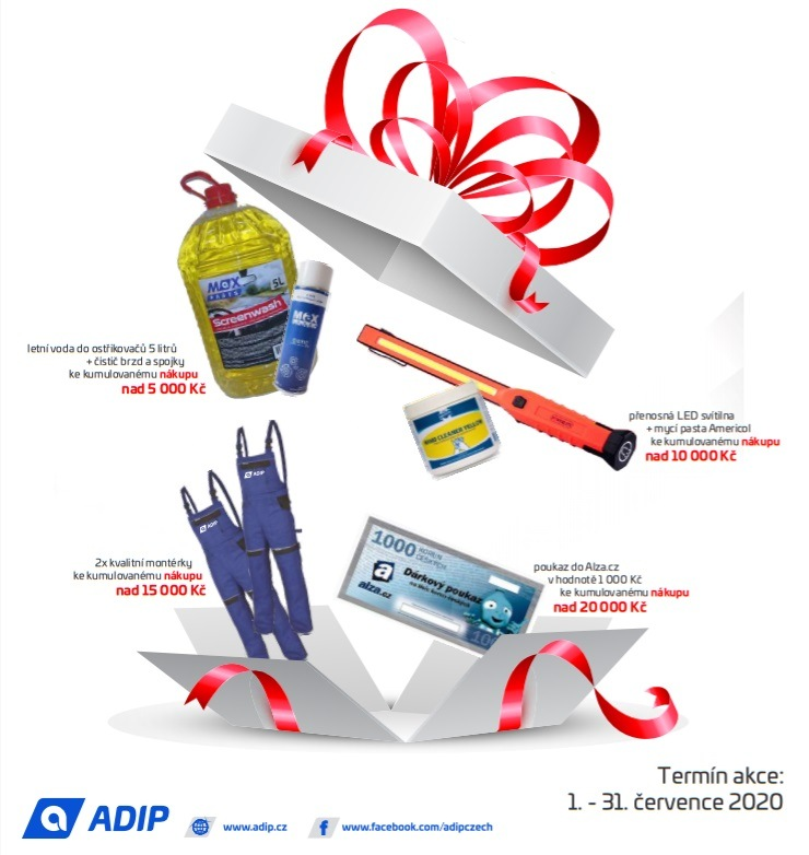 ADIP: Dárky za nákup díly pro osobní vozy