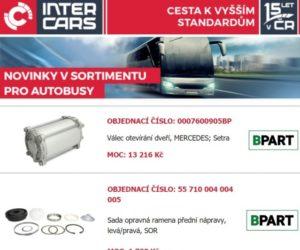 Novinky Inter Cars v sortimentu pro autobusy a zemědělskou a stavební techniku