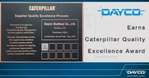Caterpillar ocenění pro Dayco