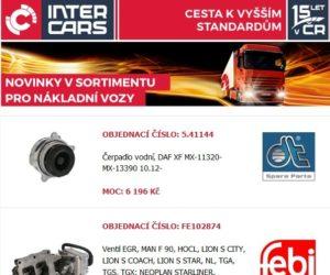 Inter Cars: Novinky v sortimentu pro nákladní vozidla – 32. týden