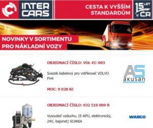 Inter Cars přináší další rozšíření sortimentu pro truck, bus a agro
