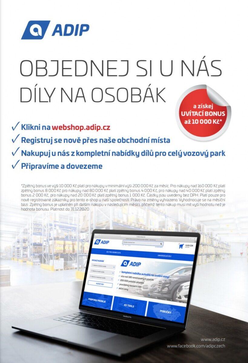 ADIP: Bonus za nákup dílů na osobní vozy