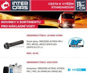 Nové náhradní díly pro autobusy a nákladní vozy v nabídce Inter Cars