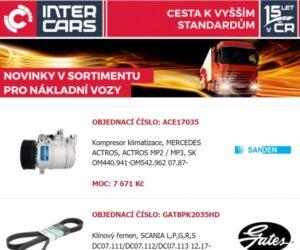 Inter Cars novinky pro nákladní a užitkové vozy