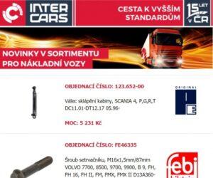 Novinky v náhradních dílech pro nákladní vozy, autobusy a zemědělskou a stavební techniku u Inter Cars