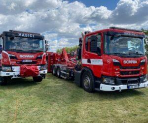 Scania vystavovala svá vozidla na veletrhu v Jičíně